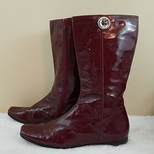 Coach Trystan Sz 9 Red Patent Leather Boots